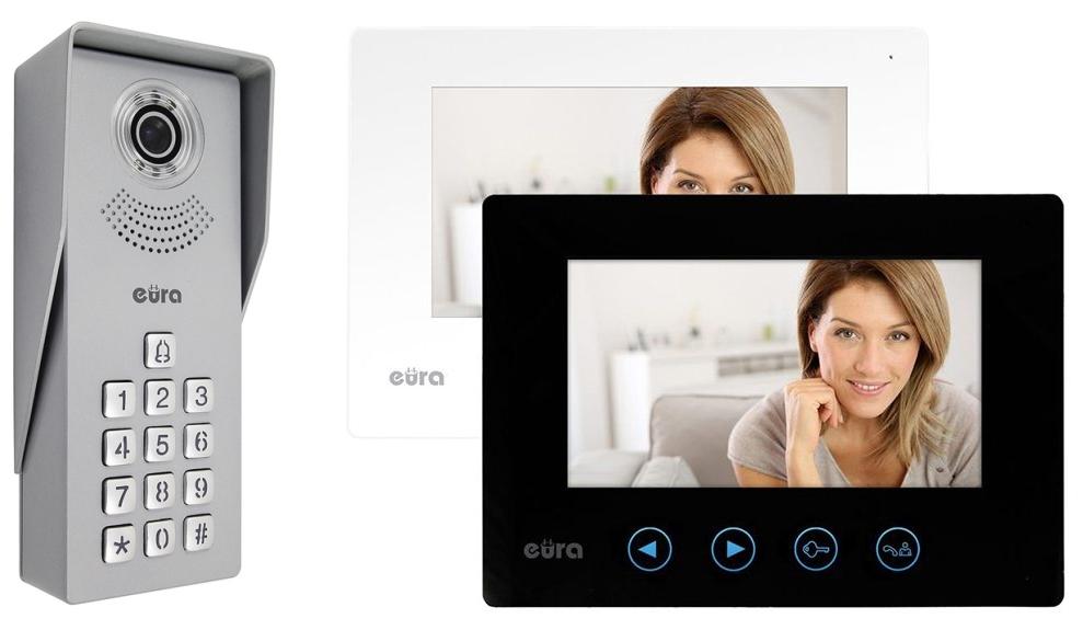 Wideodomofon Eura VDP-12A3 Tytan dwa monitory