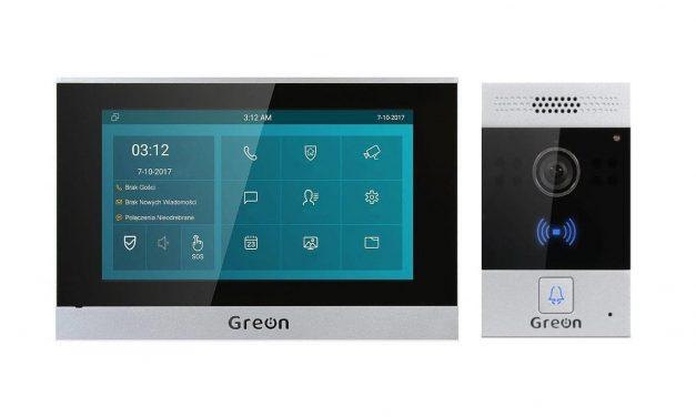 Wideodomofon IP Greon GR-OS6 GR-IS4-SL z czytnikiem breloków