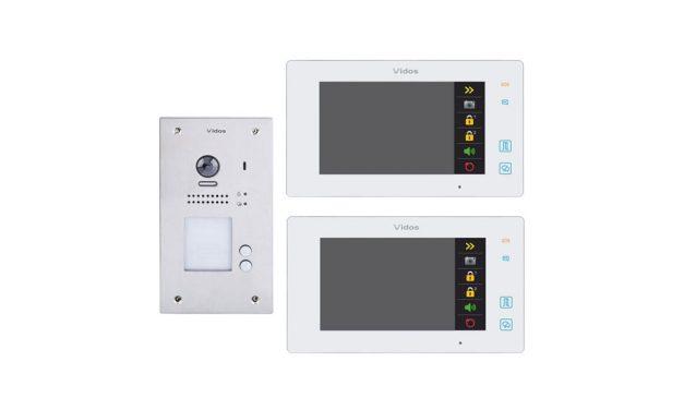 Cyfrowy wideodomofon dwurodzinny  Vidos Duo S1202A M1021