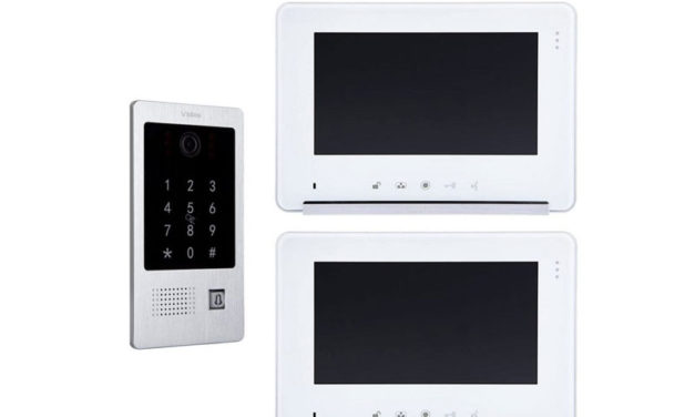 Wideodomofon Vidos S20DA M690S2 z dwoma monitorami oraz czytnikiem i szyfratorem