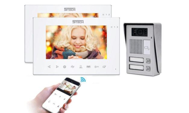 Wideodomofon 2-rodzinny 5tech IP 86714 84212 czytnik