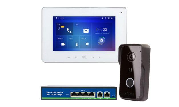 Wideodomofon Cyfrowy IP Z AndroidEM P2P zasilanie PoE