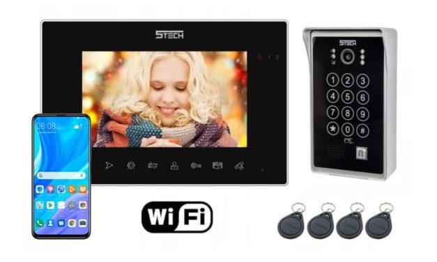 Wideodomofon IP 5Tech 86714 84213 Z Czytnikiem i Szyfratorem Wi-Fi