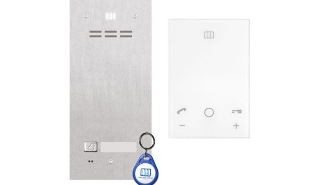 Domofon cyfrowy Aco z czytnikiem unifon bezsłuchawkowy UP800