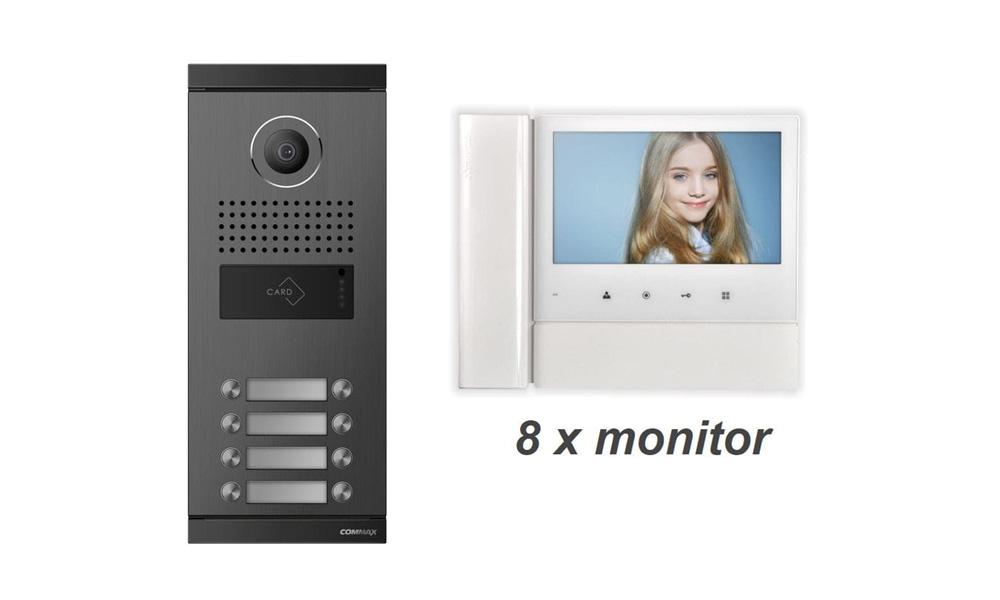 Wideodomofon Commax 8-Rodzinny z pamięcią CDV-70NM